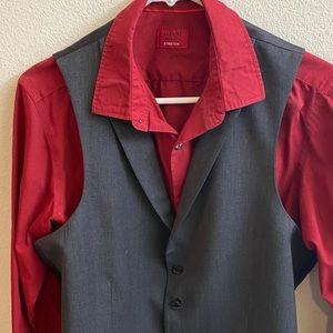 💕3/$15 SALE Alfani Red  L/S grey vest. Size S💕